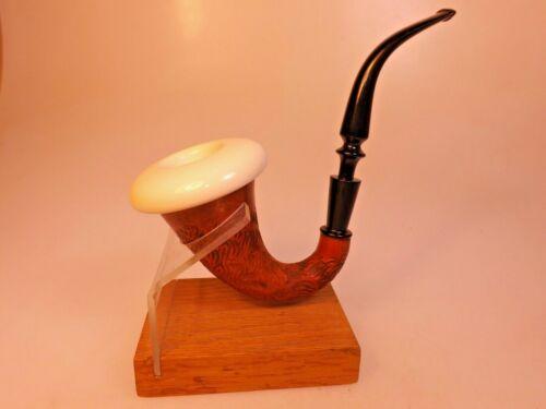 Pioneer Gourd Calabash New Solid Meerschaum Bowl Cup Sherlock Holmes PipeEbonite