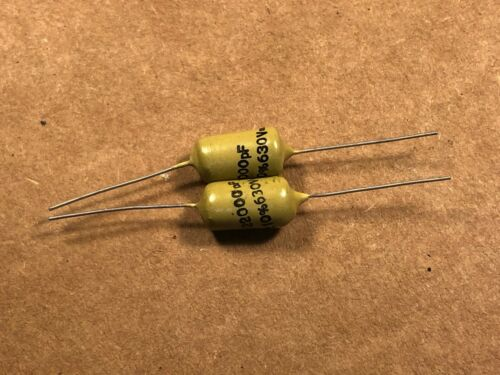 2 NOS Vintage Mullard .022 uf 630v Mustard Capacitors TESTED Epiphone Marshall