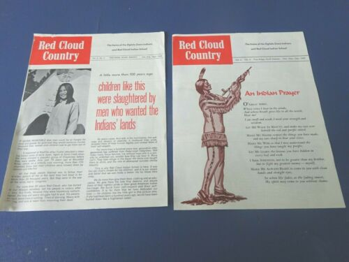 2 1969 Red Cloud Indian School Mailers, Oglala Sioux Indians, Pine Ridge, S.D.