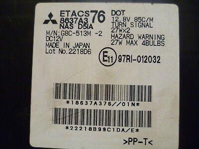 2008-2009 mitsubishi galant fuse box w/ theft locking control module  8637a376 /oem