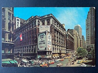 Postcard New York NY - c1960s Macy's Worlds Largest Store Herald (Macys Store New York)