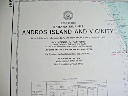 NAVIGATIONAL MAP CHART # 5991 - ANDROS ISLAND AND VICINITY - BAHAMA ISLANDS