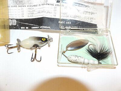 Vintage Lee Sisson Diving Tiny Ticker Smokey Joe Black//Pearl//Grey Fishing Lure