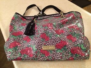 Betsy Johnson large sequin handbag