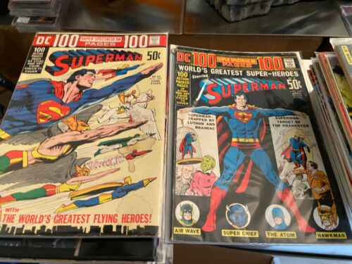 Superman Issue #s 245, 252 Lot of 2, 100 Page Giants, FN- Condition, Clean