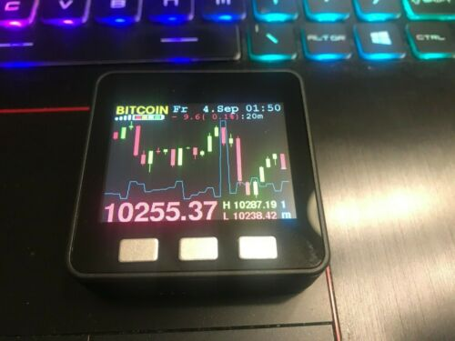 Cryptocurrency Price Ticker Color LCD Screen USB Wifi BTC and ALTs, Options
