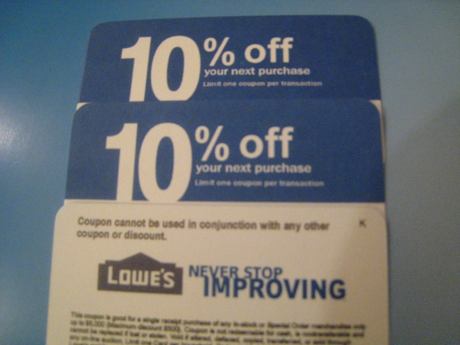 5X Home Depot 10 OFF Exp 9/15/21 Lowes COMPETITOR Coupon NOT FOR LOWE S  - $4.99