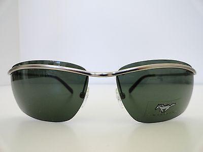 MUSTANG Silver Metal Men Sunglasses 100%UV400 Green (Mustang Sunglasses)