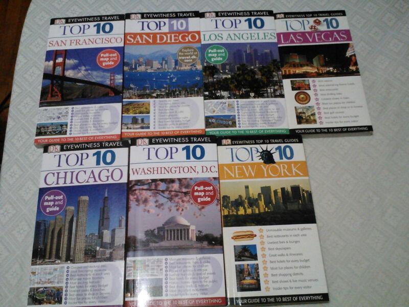 23 Travel books lot top 10 series, mini guide, gay travel, Europe, north America