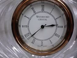 waterford crystal mantle/ table clock in mint condition
