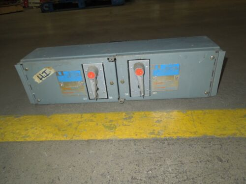 Challenger Qmqb1132r 100/100a 3p 240v Twin Fusible Switch Unit Used