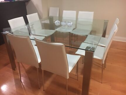 Nick Scali Dining Table Chairs