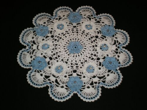 Handmade Crocheted Doily Flowers New