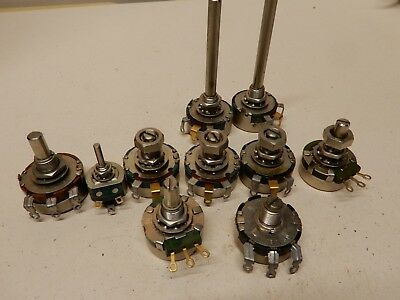 Clarostat Potentiometer Lot Of 10 Many Values As Shown
