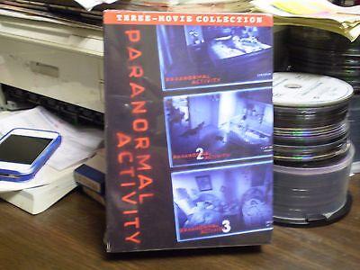 Paranormal Activity 1, 2 & 3   (3 DVD set, 2012)  Horror  Brand New w/Slipcover (Paranormal Activity Halloween)