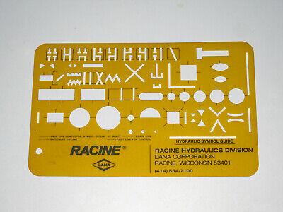 Racine Dana Hydraulic Symbol Guide Drafting Templa