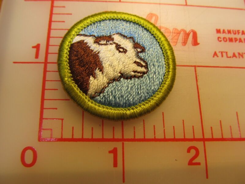 ANIMAL SCIENCE merit badge plastic backed patch (oP)