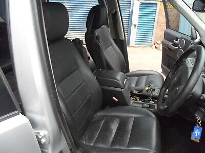 LAND ROVER DISCOVERY 3 SET OF ELECTRIC BLACK HEATED LEATHER SEATS + DOOR CARDS