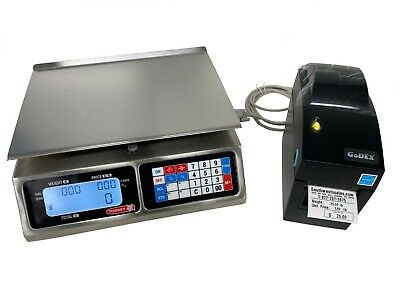 Torrey Lpc40l Price Computing Deli Meat Scale W Godex Dt2 Label Printer