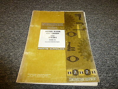 International Hough H25b Payloader Bucket Wheel Loader Parts Catalog Manual Book