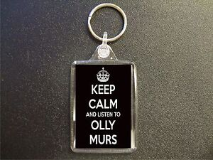 KEEP CALM AND LISTEN TO OLLY MURS KEYRING GIFT BAG TAG BIRTHDAY GIFT