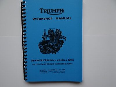 Triumph T100S T100T T100C T100R Twins 350cc 500cc Repair Manual