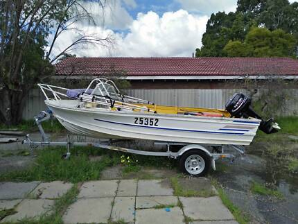 Quintrex Runabout 4.3m (14ft) 30HP and Accessories