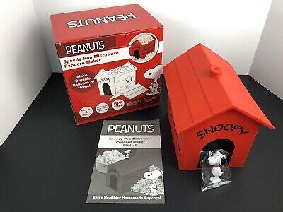 Peanuts Snoopy Speedy-Pop Microwave Popcorn Maker Kernels To Popcorn In 3 Min