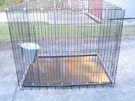 NEW SUPER JUMBO Collapsible Metal Dog Cage Crate with METAL TRAY