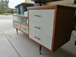 1970s dresser table or display cabinet