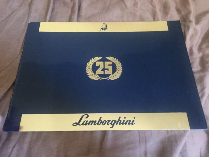 1988 Lamborghini Countach 25 Anniversary Color Brochure Catalog Prospekt