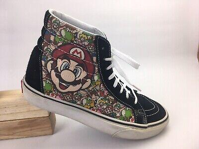 Vans Nintendo Super Mario Bros Game Over High Top Shoe 721277 Sz Men 6 Women 7.5