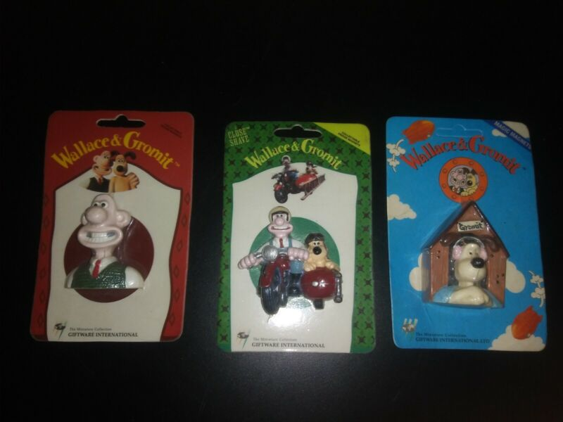 Wallace and gromit fridge magnets Set Of 3(1989) Factory Sealed
