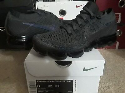 the best attitude 50ad8 52ed0 Womens Nike Air VaporMax Flyknit Midnight Fog Multi Color Black 95 97  849557 009