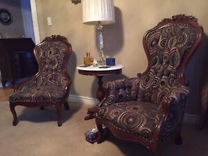 Antique replica couch and chairs