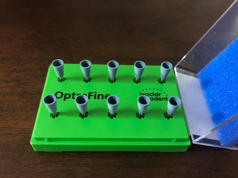OptraFine P (Dark Blue) Ceramic Polishing Cups; 10 Pack Refill
