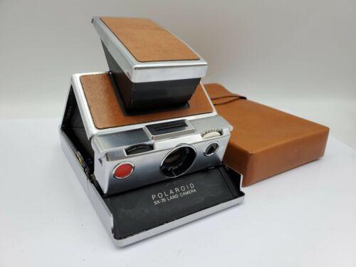 Polaroid SX-70 Instant Film Land Camera w/ Case - Brown *READ - Untested*