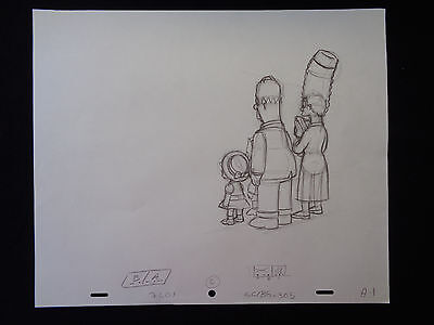 The Simpsons Original Animation Drawing Production Art Bb8