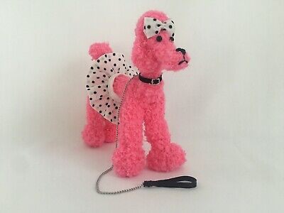 Handmade Pink Poodle Dog For Vintage Barbie Silkstone Doll Dogs N Duds Inspired
