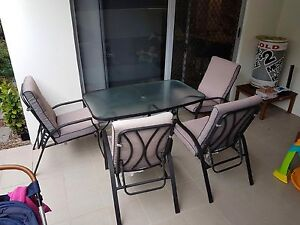 Outdoor Dining Table with chairs, footstools and side table Holland Park Brisbane South West Preview