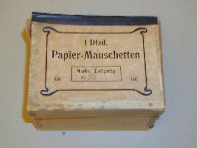 1 Dutzend Papier-Manschetten, OK, Marke Voksbund
