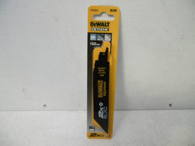5 X DEWALT EXTREME DT2407L 152MM LONG LIFE METAL CUTTING RECIP SAW BLADES