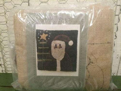 Heart to Hand  Wool Hooked Rug Kit #142 Yule II Primitive Santa New