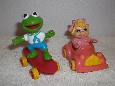 Muppets Ms Piggy & Kermit Figures Or Cake Toppers (Kermit Ms Piggy)