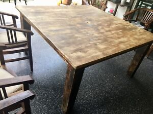 Rustic 8 Seater Solid Teak Balinese Dining Table. Absolute Bargain