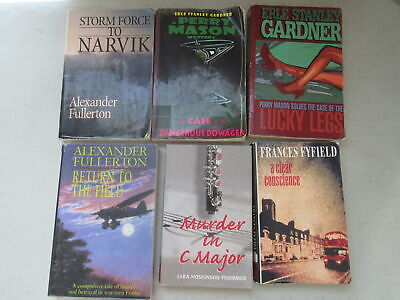 Lot of 6 Large Print Mystery Novels by Various Authors ~ Hardcover