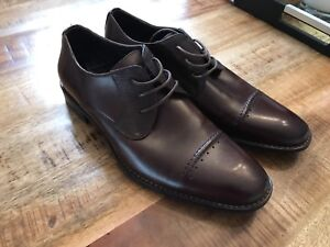 Men's Stacy Adams Brown Leather Dress Shoes
