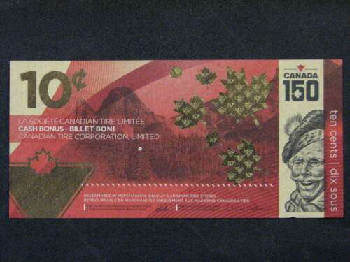 Canadian Tire Money 10c - 150th Anniversary Issue