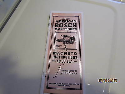 American Bosch Mag Magneto Manual Book For Fairbanks Morse Z Engines