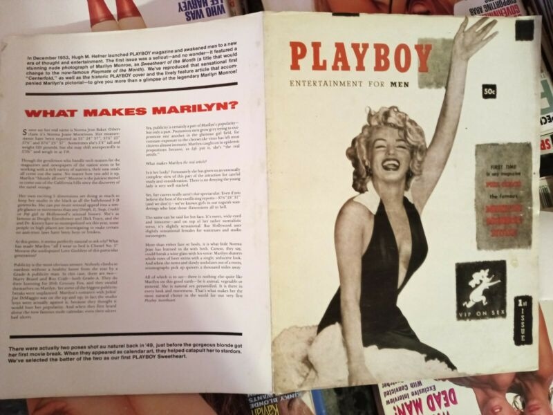 Marilyn+Monroe+Playboy+Magazine+Official+Re-issue+Poster+MINT